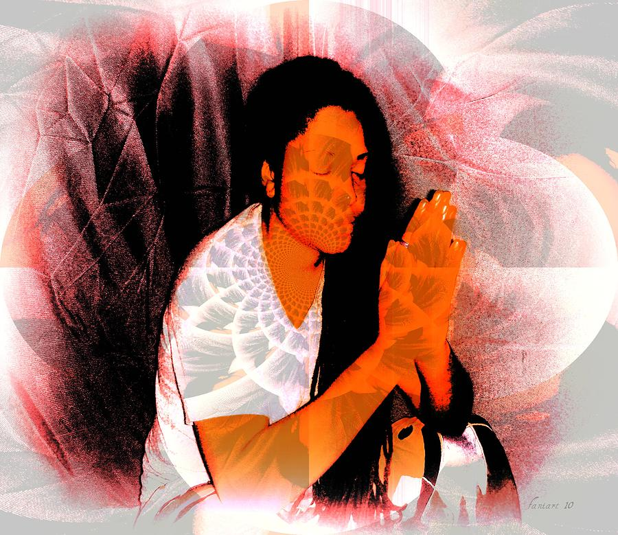 Fania Simon Painting - Prayer Changes Things by Fania Simon