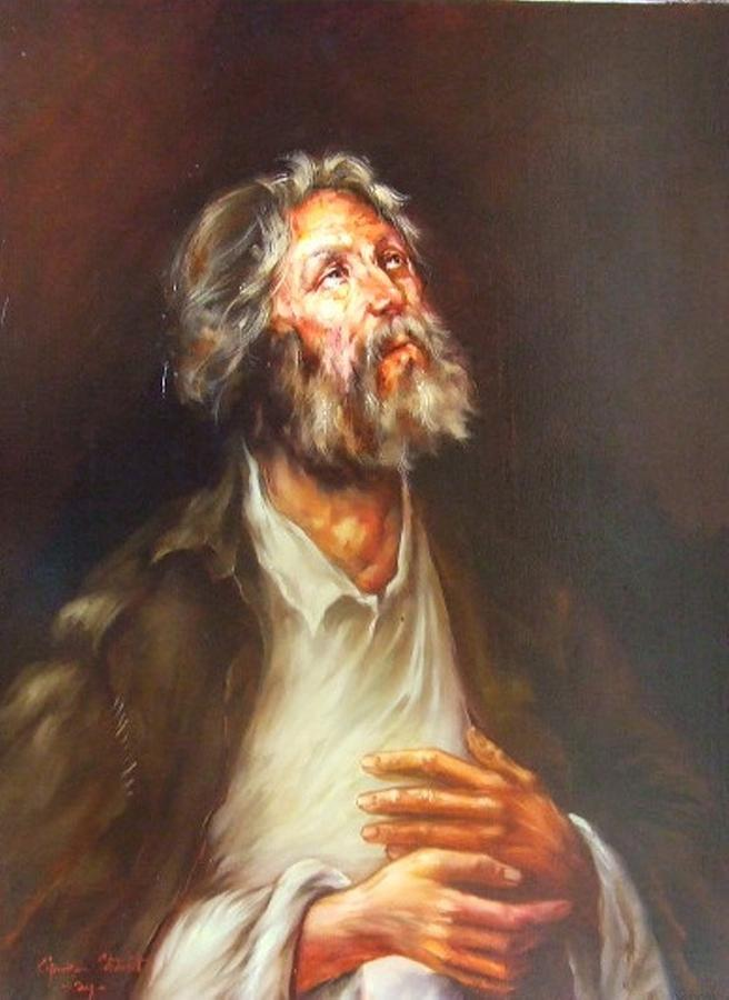 Portrait Painting - Prayer by Ciprian Stratulat