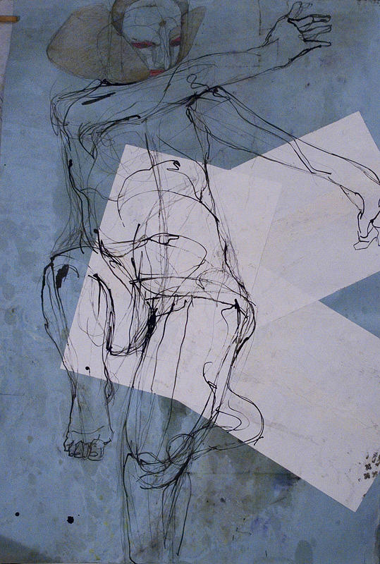 Prayer Dance - Pure Drawing by Viktorija Kulesova