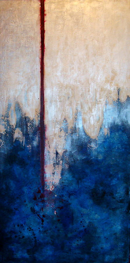 Abstract Painting - Prayer for Joshua by Teresa Carter