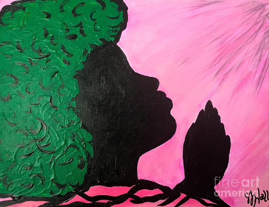 Pray Painting - Prayer Is Serious by Sheila J Hall
