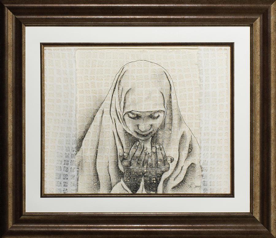 Prayer Little Sister Drawing by Carmen R Sonnes
