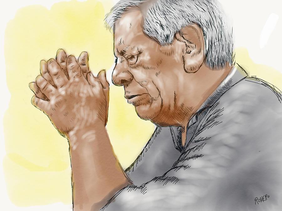 Prayer Painting - Prayer Of A Righteous Man by Antonio Romero