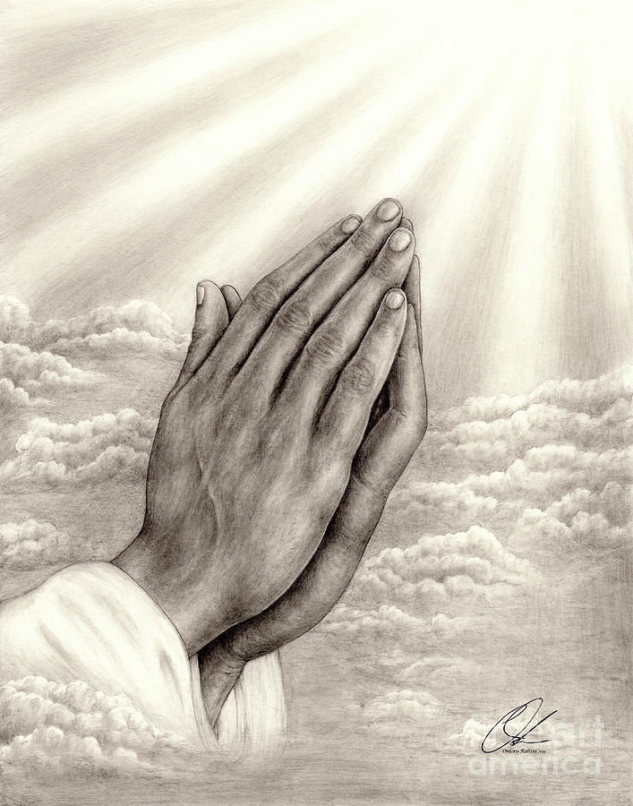 Praying hands by Omoro Rahim