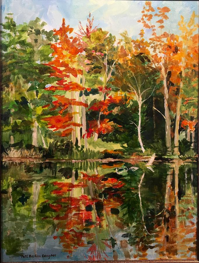 Landscaping Painting - Prentiss Pond, Dorset, Vt., Autumn by Patti Campbell
