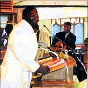 Church Painting - Preacher Man by MDanette Smith