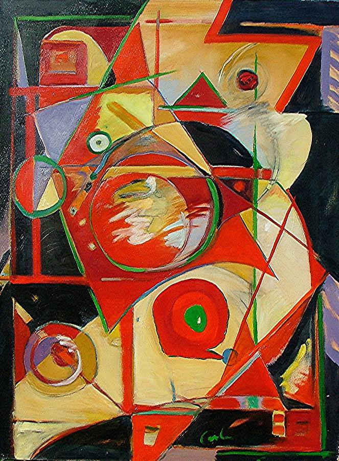 Cross Painting - Precarious Balance by Gary Coleman
