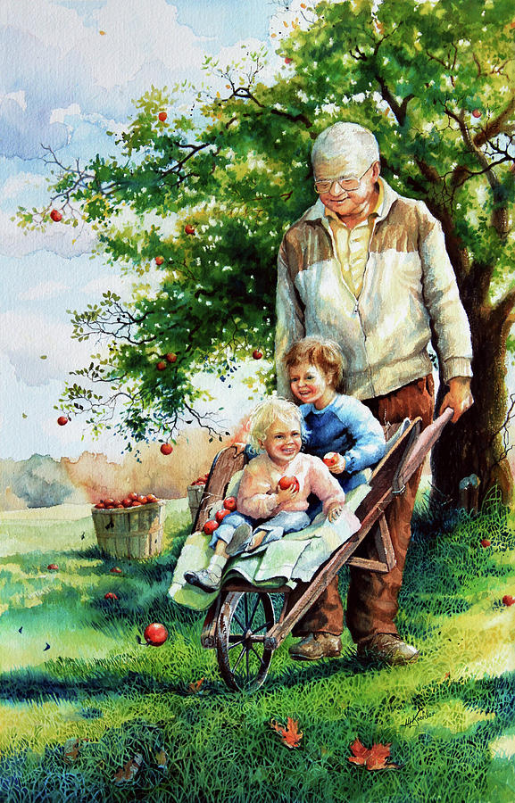 День, дедушка с внуками прикольные картинки