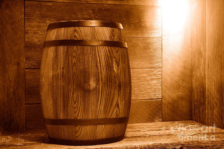 Whisky Photograph - Precious Cargo - Sepia by Olivier Le Queinec