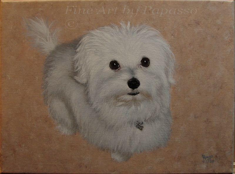 Dog Painting - Precious by Kathie Papasso
