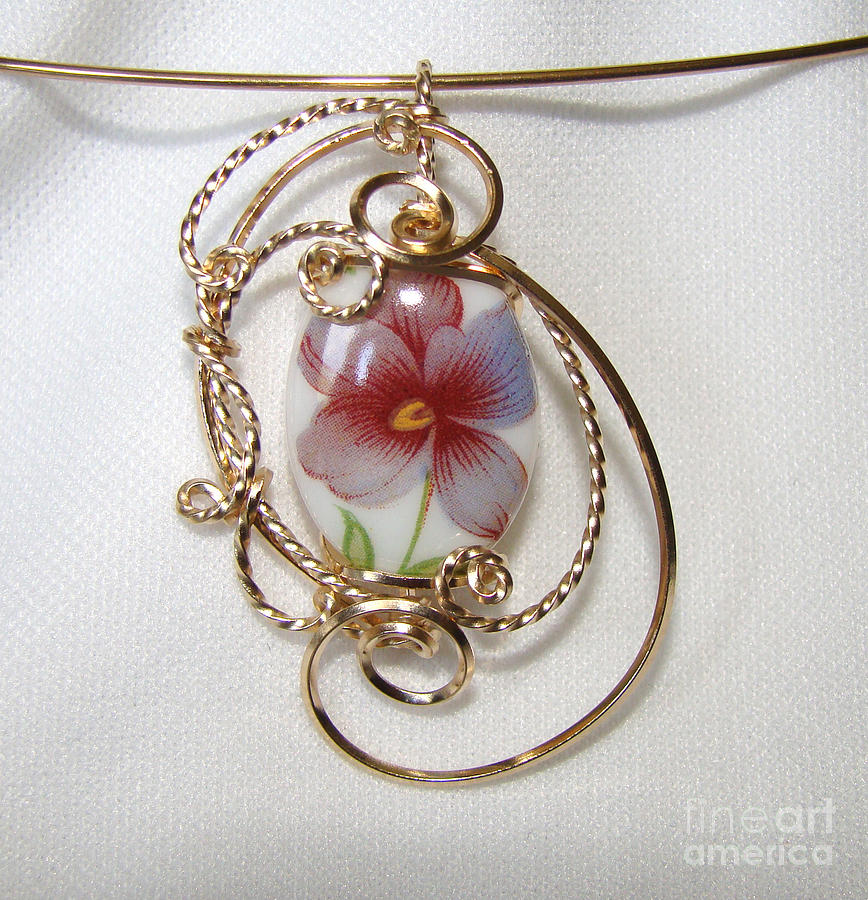 Wire Jewelry - Precious Pansy by JoLen Confer