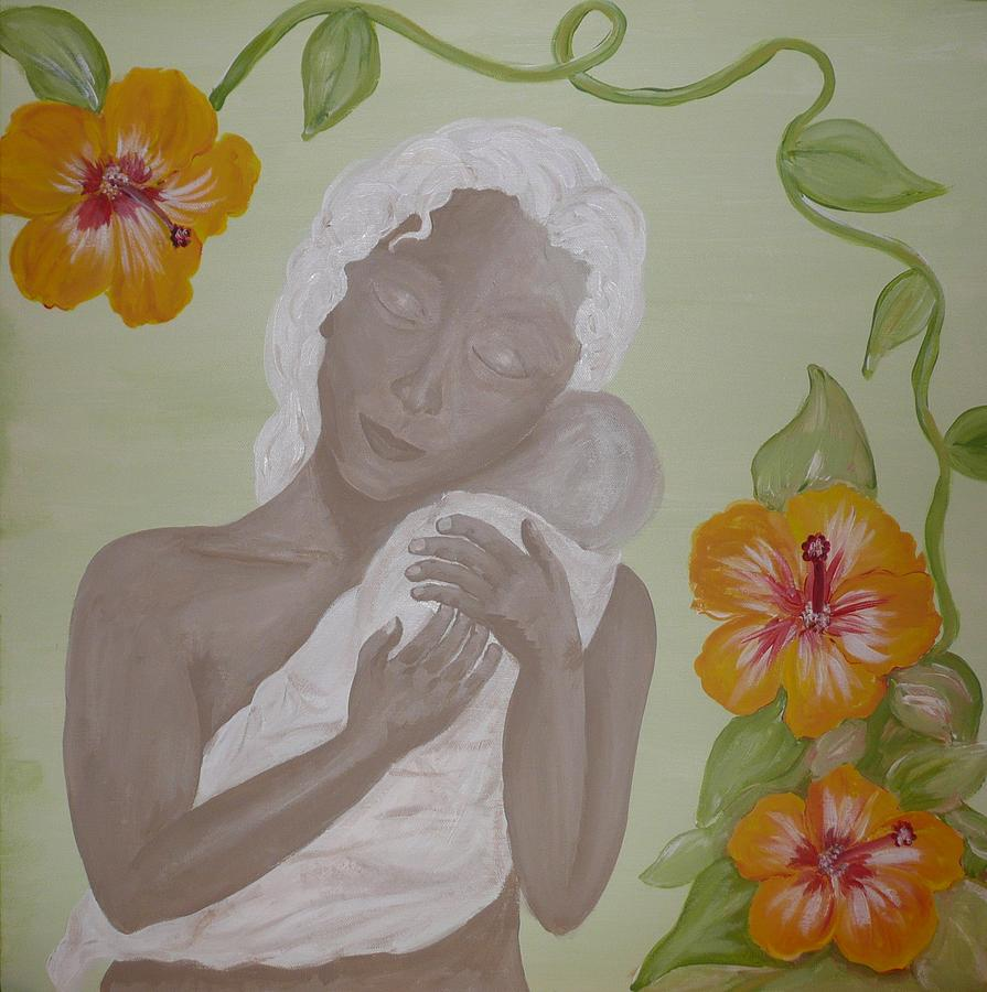 Mother Painting - Precious Time by Jennifer Hernandez