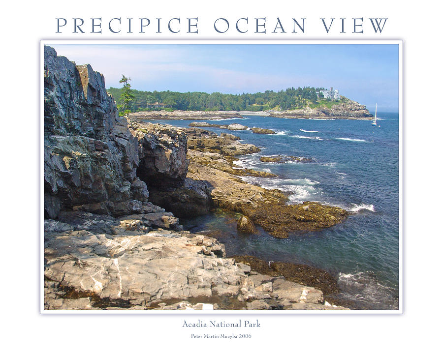 Landscape Photograph - Precipice Ocean View by Peter Muzyka