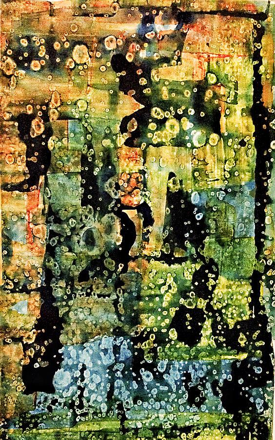 Abstract Mixed Media - Precipitation Of Time by Dan Sisken