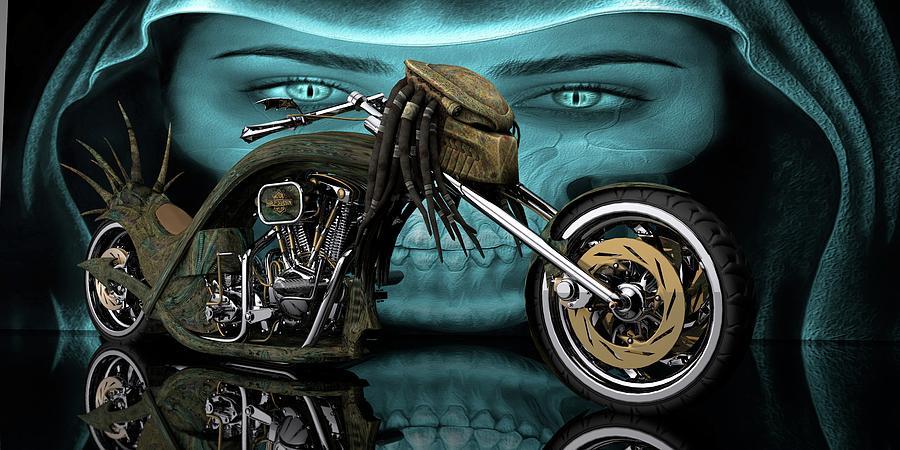 Predator Chopper Digital Art by Louis Ferreira