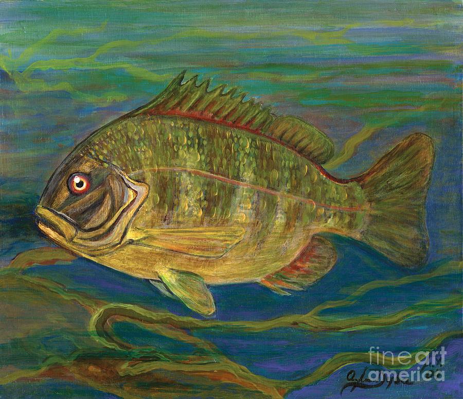 Folkartanna Painting - Predatory Fish by Anna Folkartanna Maciejewska-Dyba