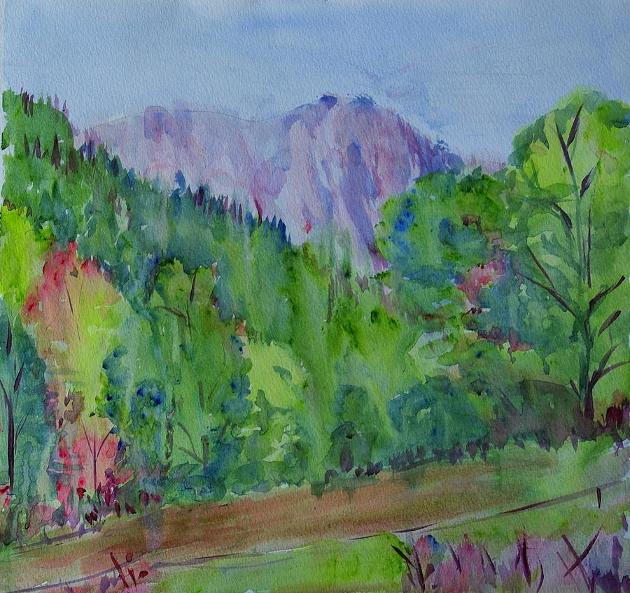 Nature Painting - Predeal - Mountain View by Liliana Andrei