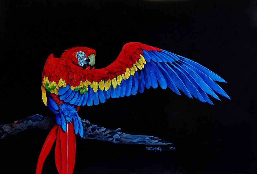 Animals Painting - Preening by Dana Newman