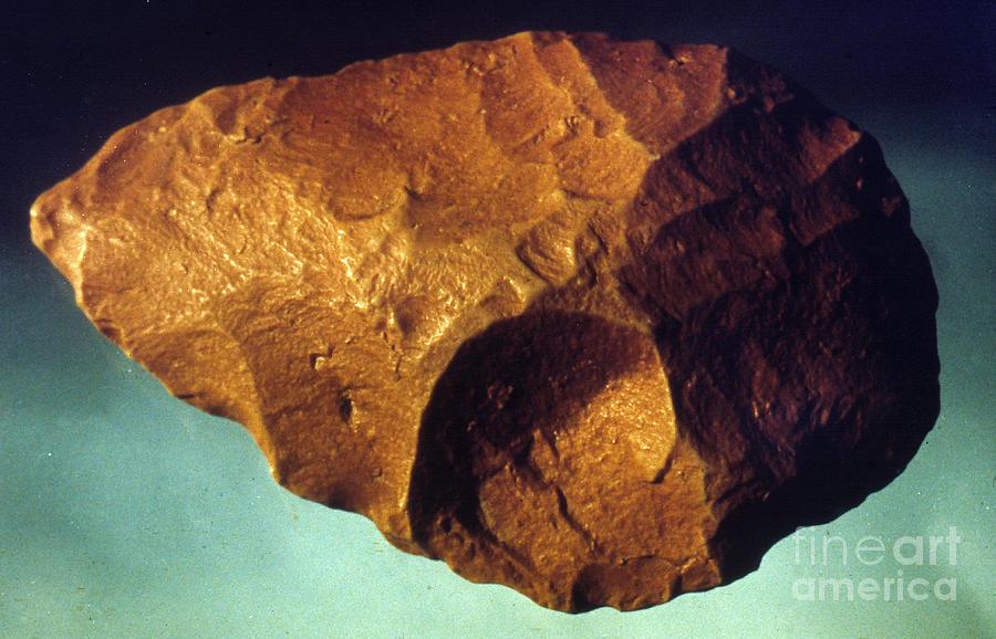 Ancient Photograph - Prehistoric Flint Blade by Granger