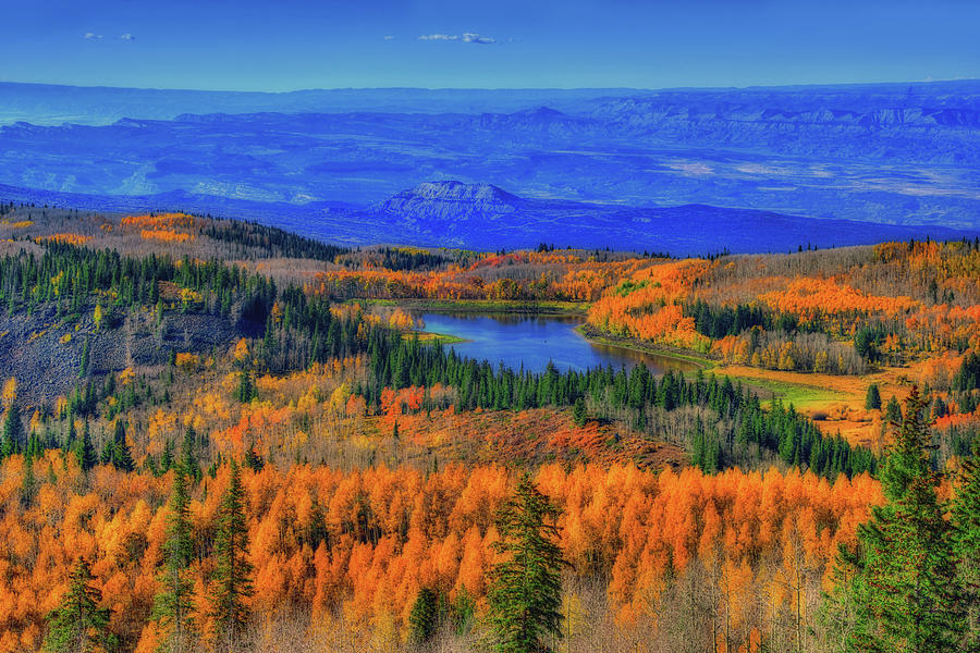 Colorado Photograph - Prelude In Gold And Blue by Midori Chan