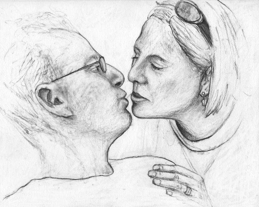 Kiss Drawing - Prelude To The Kiss by John Terwilliger