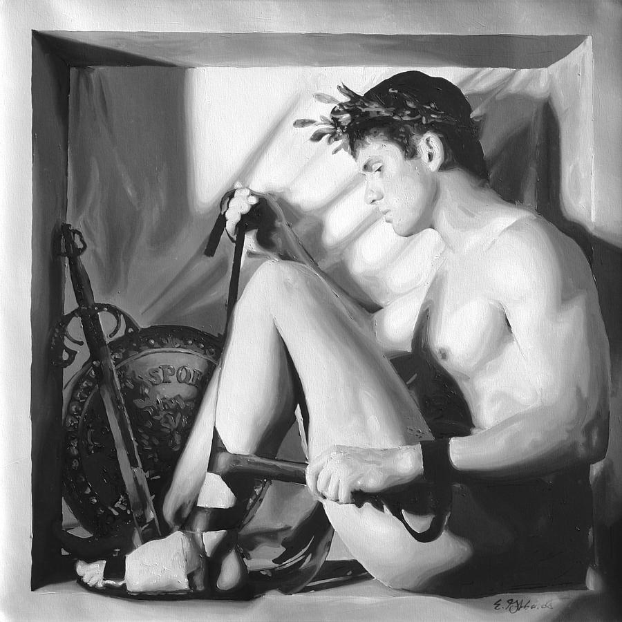 Male Painting - Preparations by E Gibbons