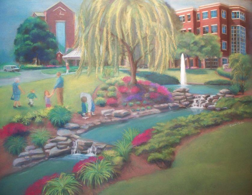 Presbyterian Hospital Painting - Presbyterian Hospital At Matthews by Diane Caudle