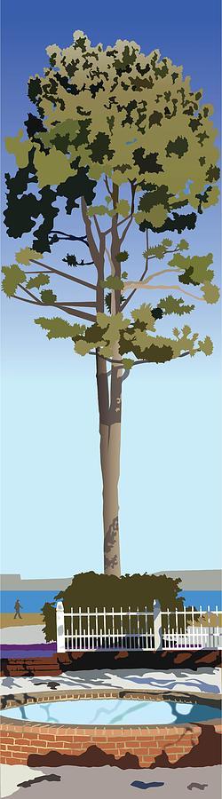 Tree Painting - Prescott Park in Winter by Marian Federspiel