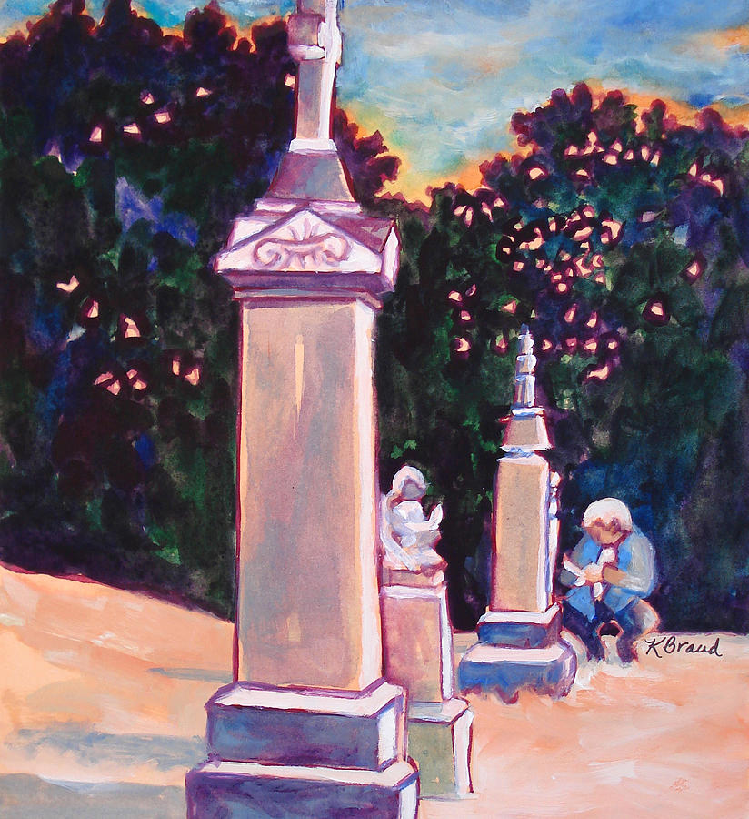 Painting Painting - Present Meets Past by Kathy Braud
