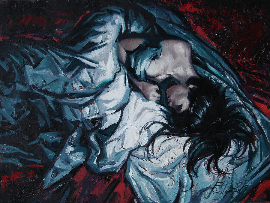 Oil Painting - Presentiment of insomnia by Sergey Ignatenko