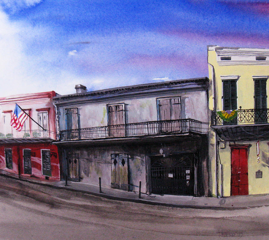 Street Scene Painting - Preservation Hall by Tom Hefko