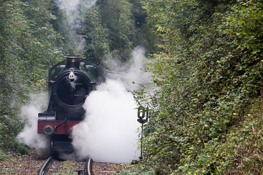 Steam Photograph - Preserved Steam Locomotive  by Tony Mills