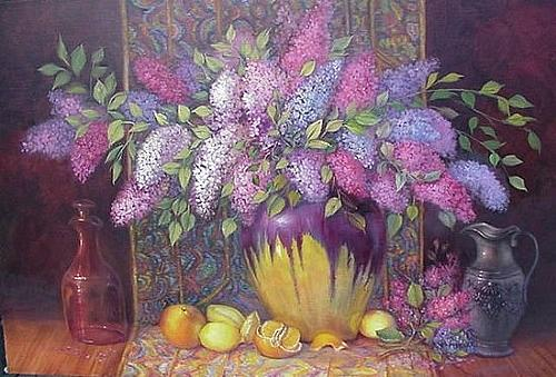 Floral Painting - Preserving Spring by Naomi Dixon