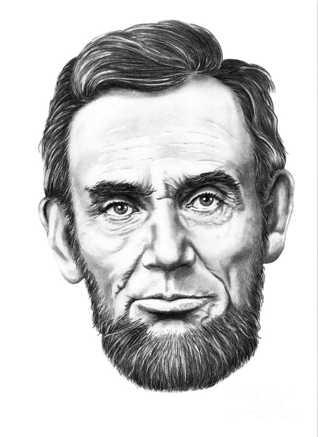 President Abe Lincoln Drawing - President Abe Lincoln by Murphy Elliott
