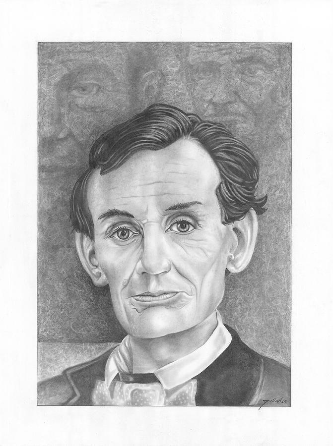 Presidents Drawing - President  Abraham Lincoln by Julian  B