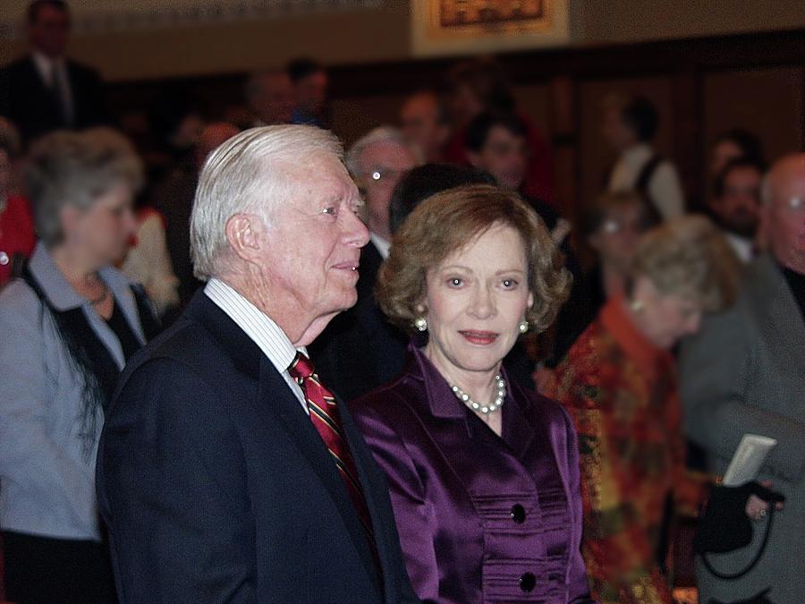 President Jimmy Carter Photograph - President And Mrs. Jimmy Carter Nobel Celebration by Jerry Battle