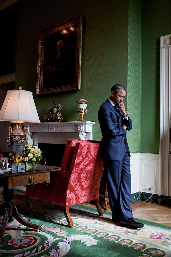 History Photograph - President Barack Obama Waits by Everett