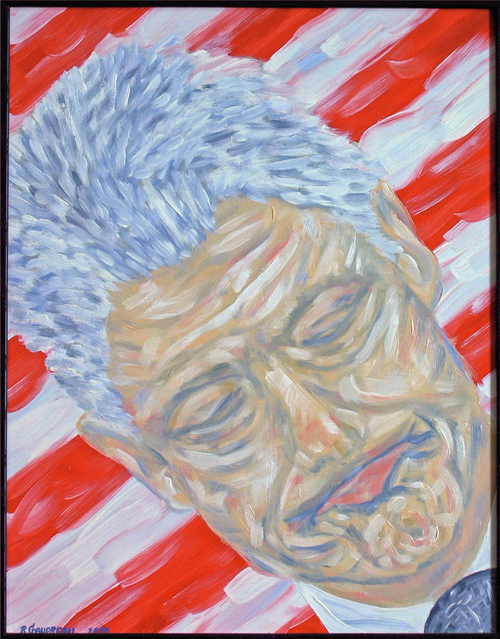 Clinton Painting - President Clintons Favorite Face by Robert Gaudreau