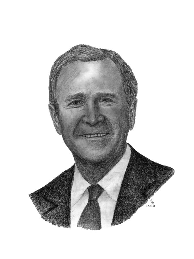 President drawing president george w bush by charles vogan