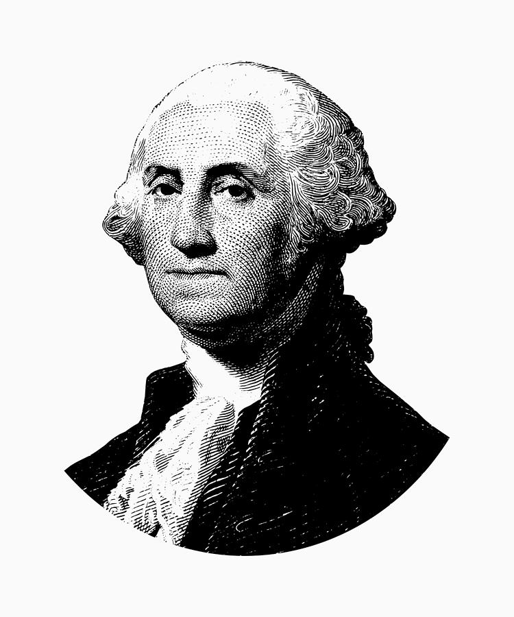 George washington digital art president george washington graphic black and white by war is
