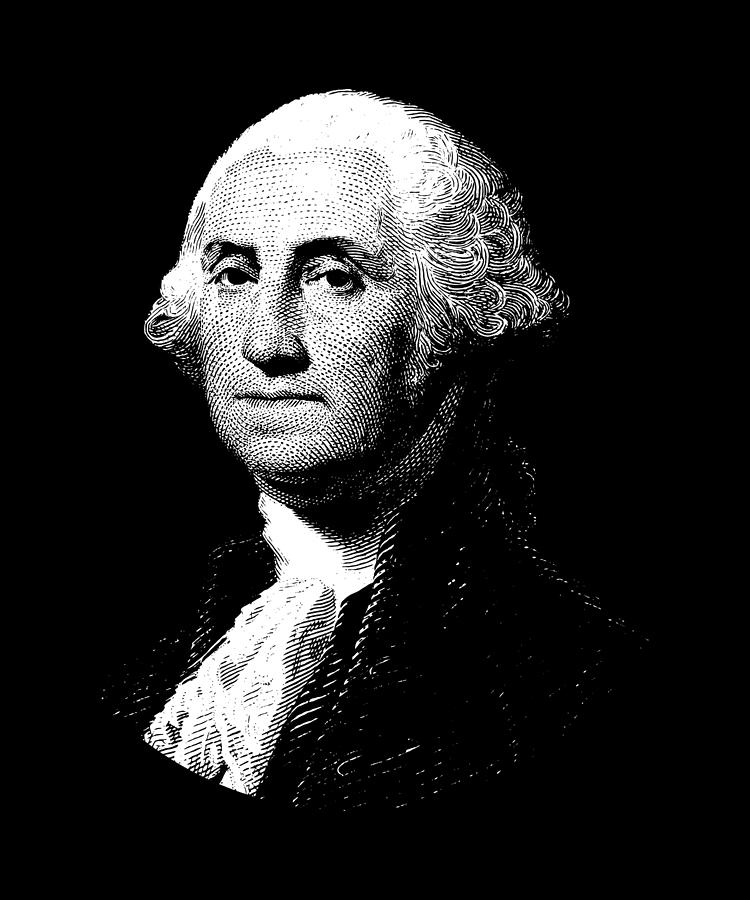 President George Washington Graphic Digital Art By War Is Hell Store