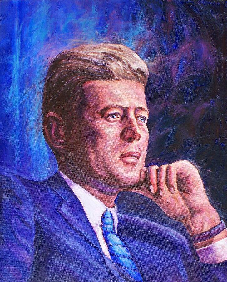 Man Painting - President John F. Kennedy by Ed Breeding