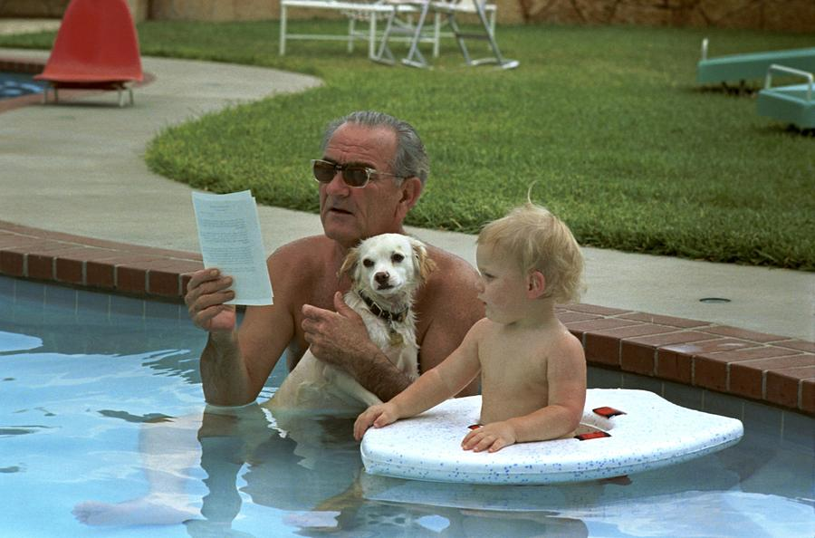 History Photograph - President Lyndon Johnson Celebrates by Everett