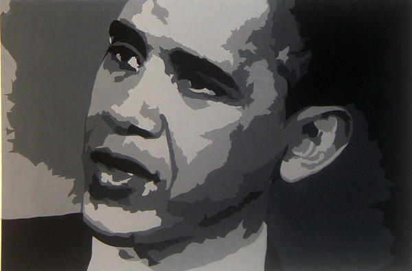 President Obama Painting - President Obama by Michael James  Toomy
