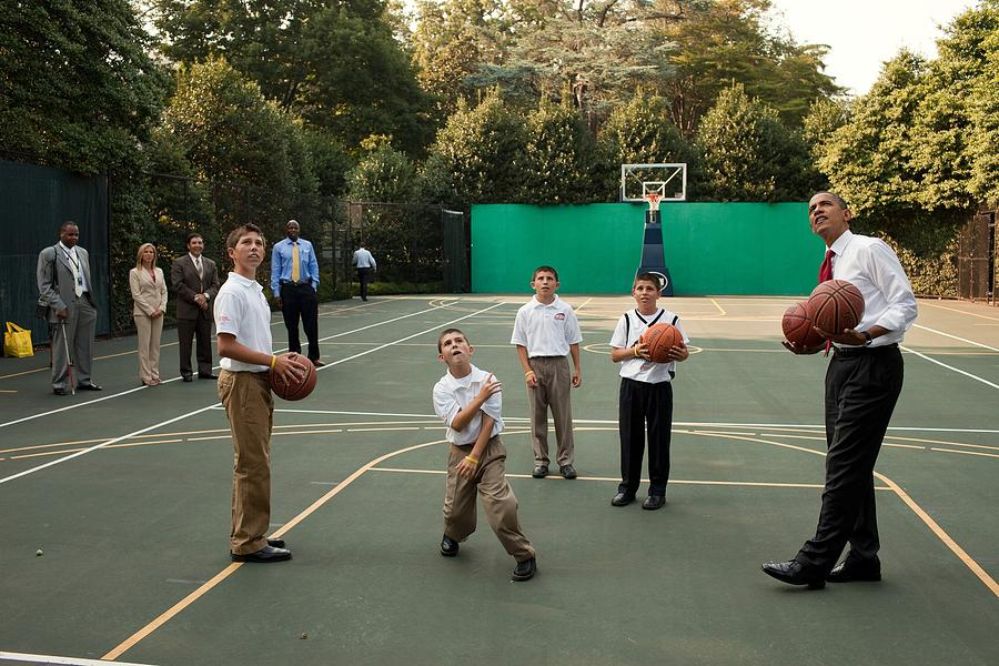 History Photograph - President Obama Watches As Justin by Everett