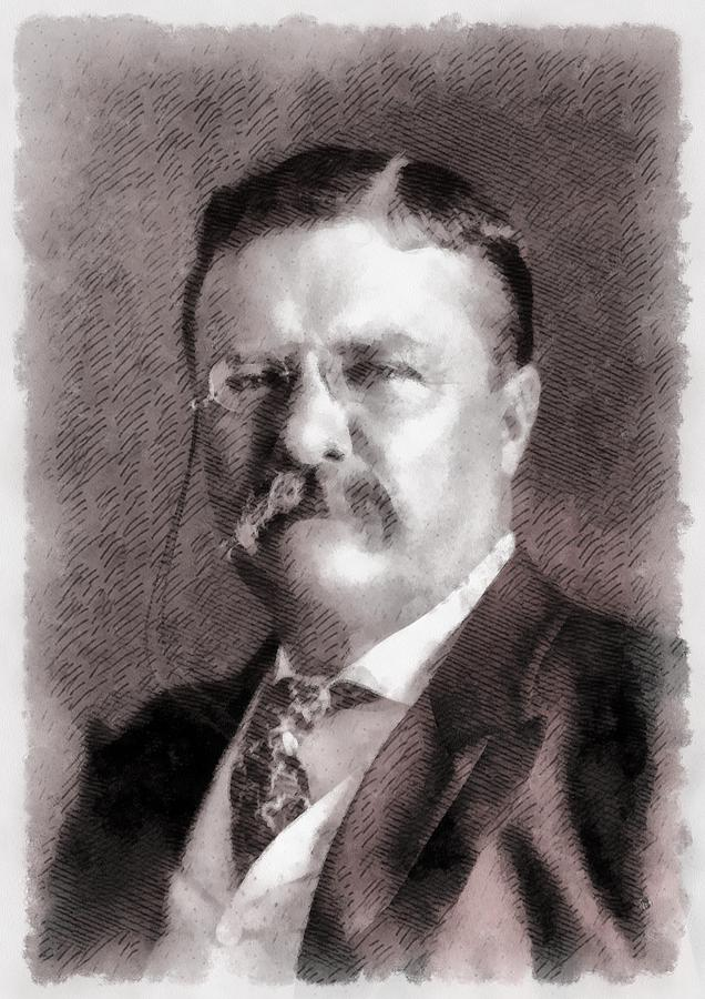 President Painting - President Theodore Roosevelt by John Springfield