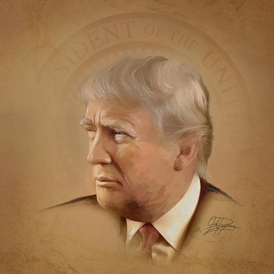 Trump Mixed Media - President Trump by Joel Payne