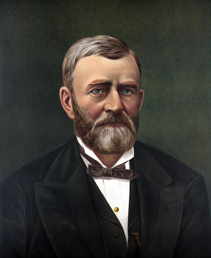 Ulysses S Grant Painting - President Ulysses Grant by War Is Hell Store