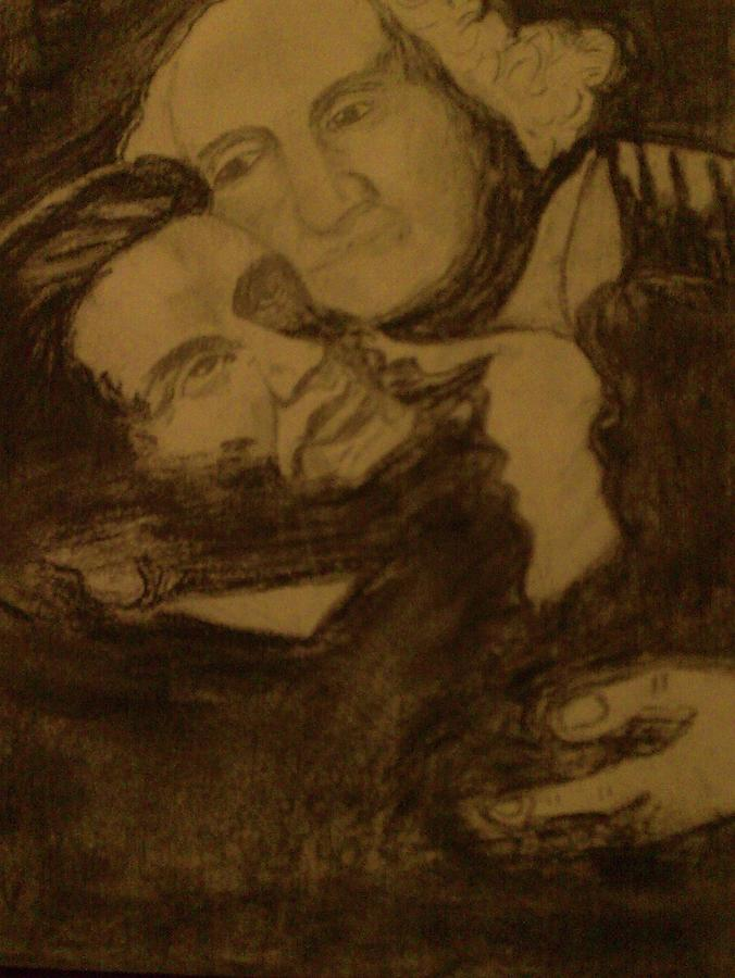 George Washington And Abraham Lincoln Drawing - Presidents by Helen Vanterpool