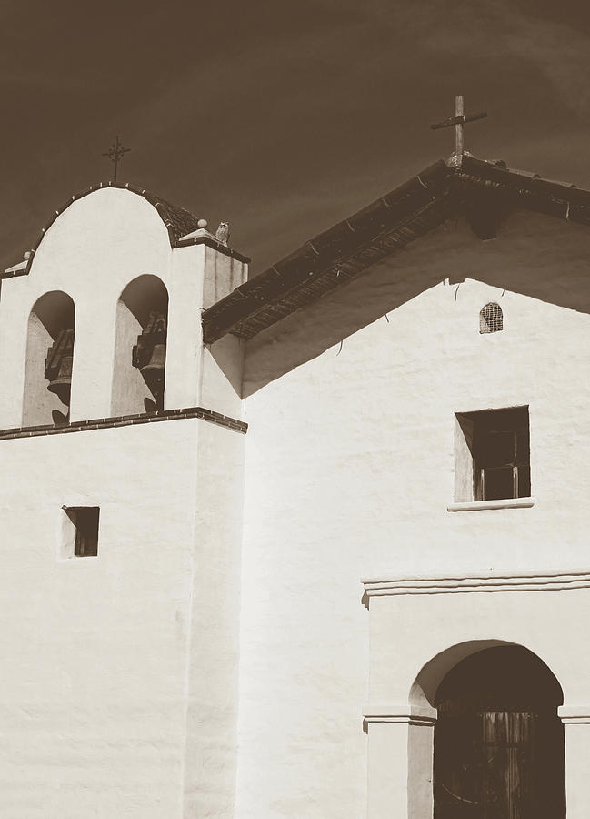 Sepia Photograph - Presidio Chapel- Art by Linda Woods by Linda Woods